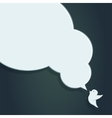 Speech Bubble with Crow of crow with big speech vector image vector image