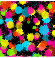 splash black background vector image vector image