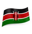 State flag of Kenya vector image vector image
