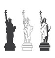 statue of liberty world landmark american symbol vector image vector image