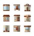Storefronts flat color icons vector image vector image