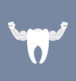 Strong healthy tooth White clean tooth with big vector image