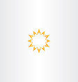 sun star yellow icon logo design vector image vector image