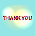 thank you concept colorful word art vector image