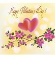 valentines day party poster design template of vector image vector image
