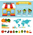 Vegetarian food infographic background vector image vector image