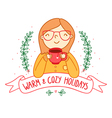 Warm and cozy vector image