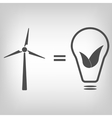 Wind turbine as eco friendly source of energy vector image vector image