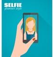 Selfie Flat Poster vector image