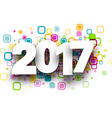 2017 background with geometric pattern vector image vector image