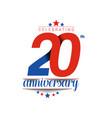 20th years anniversary celebration design 3d