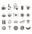 a large set of icons of different foods and drinks vector image vector image