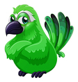 A scary green bird vector image vector image