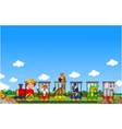 Animal train cartoon vector image vector image