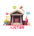 auction house conceptual background vector image vector image