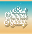 best summer holiday typographic design vector image