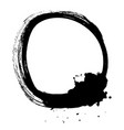 black brush stroke in form a circle vector image