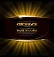 black gold elegant certificate template vector image vector image
