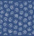 blue pattern with white blossom vector image vector image