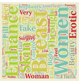 Breast Enhancement Erotic And Beautiful text vector image vector image