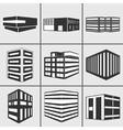 Buildings web sticker icons set vector image vector image