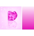 card with diamond which has shape of heart vector image vector image