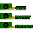 Cash icons vector image vector image