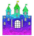 castle with transition colors vector image