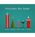 christmas holiday statistics infographics template vector image