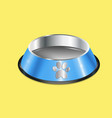 chrome pet dish vector image vector image