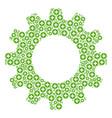 cogwheel mosaic of create icons vector image vector image