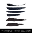 collection of brush strokes vector image vector image