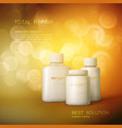 cosmetics package design vector image vector image
