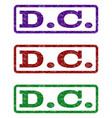 dc watermark stamp vector image