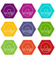 donut icons set 9 vector image vector image