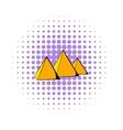 Egyptian pyramids icon comics style vector image vector image