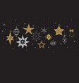 elegant merry christmas background banner and vector image