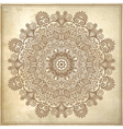 flower circle design on grunge background vector image vector image