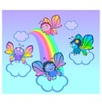 Four funny butterflies vector image vector image