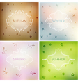 Four season blurred smooth backgrounds set vector image vector image
