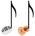 funny music notes vector image vector image