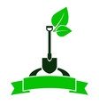 garden sign with shovel vector image vector image