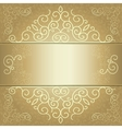 golden background card invitation or menu vector image vector image