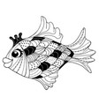 goldfish black and white vector image