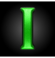 green plastic figure i vector image