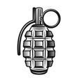 grenade monochrome vintage vector image vector image