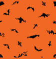 halloween seamless pattern with bats crosses and vector image