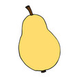 hand drawn sketch doodle colored pear vector image vector image