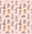 happy adorable rabbit cartoon character cheerful vector image vector image