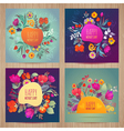 Happy Motherss Day greeting card set vector image vector image